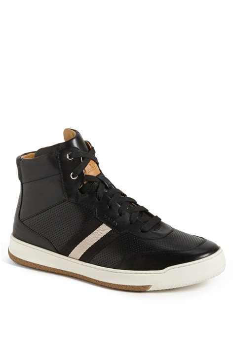 high top bally sneakers bally atilio high top sneaker in black for lyst
