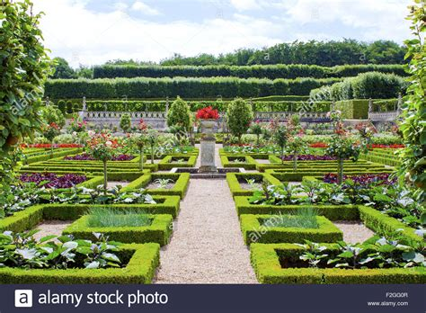 Castle Gardens by Castle Gardens In The Loire Valley In Stock Photo