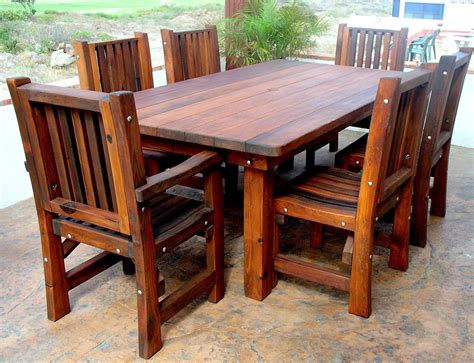 how to take care of your wood patio furniture this summer