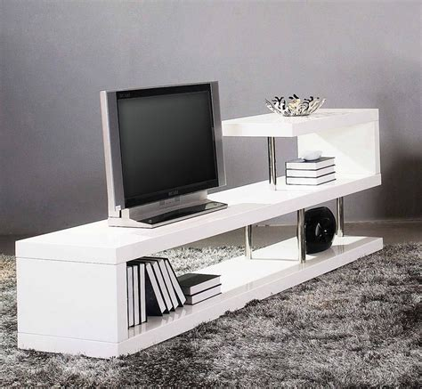 tv stand in middle of room win 5 modern white lacquer tv stand entertainment center