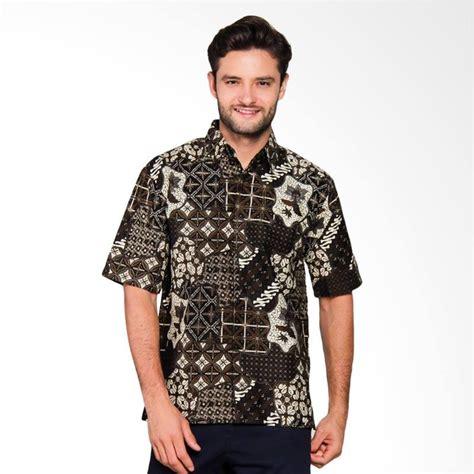 Ls 93 Baju Batik Kemeja Pria Slim Fit Lengan Pendek Keren jual adiwangsa model modern slim fit baju kemeja batik