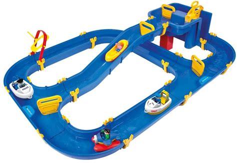 toy boat track kids outdoor summer fun water toy track splash slide set