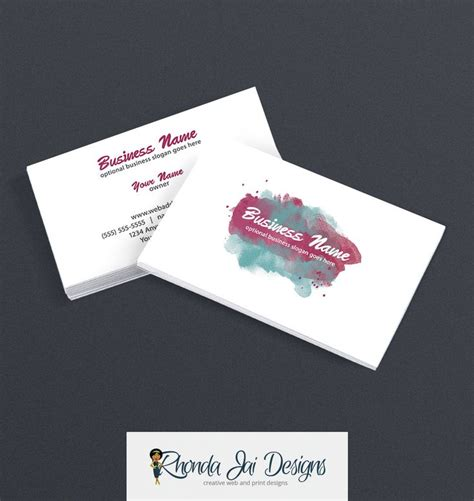 57 Best Etsy Business Cards Images On Pinterest Business Card Design Templates Business Card Etsy Card Templates