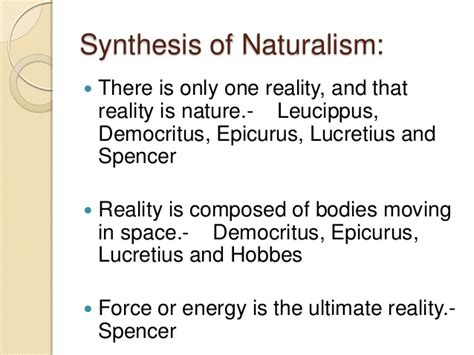 naturalistic pattern definition major philosophies in education