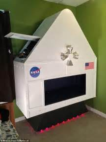 Diy Decorations For Bedrooms dad builds sons a nasa space simulator and mission control