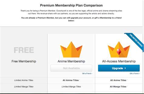 crunchyroll membership crunchyroll forum premium and anime membership questions