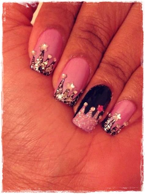cute nail designs with a crown 55 cool acrylic nail art designs that drop your jaw off