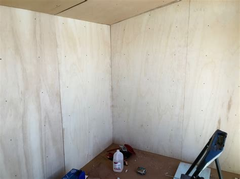 Interior Shed Walls by Syonyk S Project Solar Shed Part 7 Plywooding The
