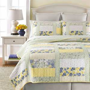 martha stewart collection blue and yellow patchwork posey