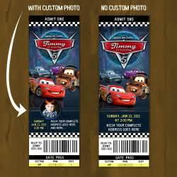 cars 2 lightning mc queen ticket invitation by