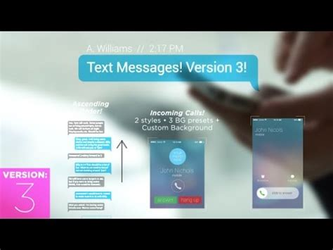 text messages after effects template youtube
