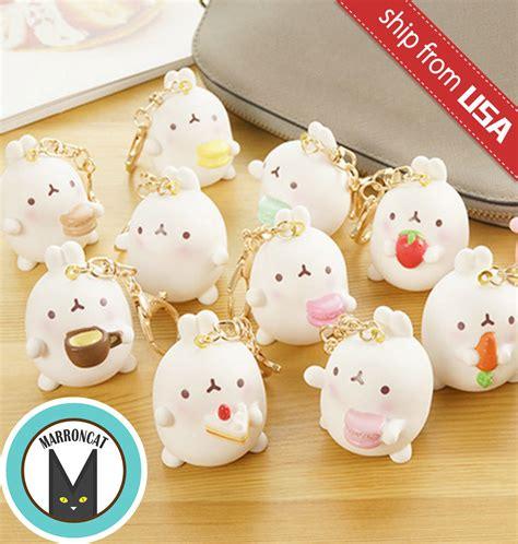 Molang Kawaii Tosca Pajamas Dewasa korean molang rabbit kawaii keychain key chain charm macaron bag accessory ebay