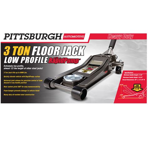 Pittsburgh 3 Ton Floor by 3 Ton Low Profile Steel Heavy Duty Floor With Rapid 174