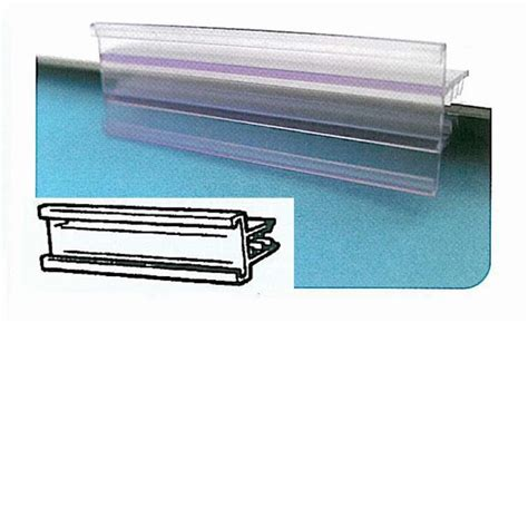 ticket holder for glass shelves glass shelf label holder