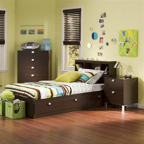 kids twin bedroom set cakao kids twin 3 piece bedroom set with bookcase