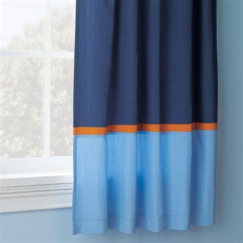 blue orange curtains all solar systems go curtain panels
