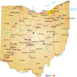 Ohio Map Cities by Ohio Map Blank Political Ohio Map With Cities