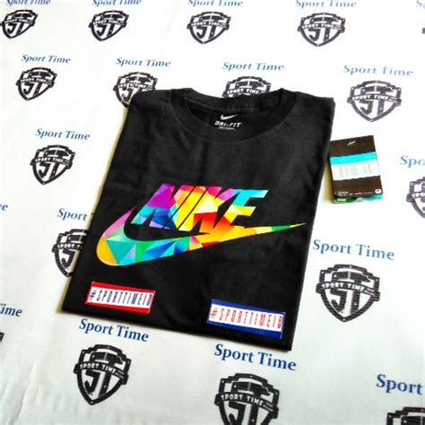 T Shirt Kaos Nike 6 0 baju kaos t shirt nike prism color black shopee indonesia