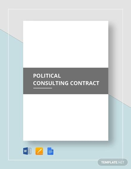 Political Consulting Contract Template 16 consultant contract templates word docs pdf
