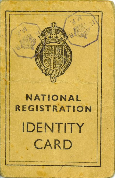 ww2 british national registration identity cards