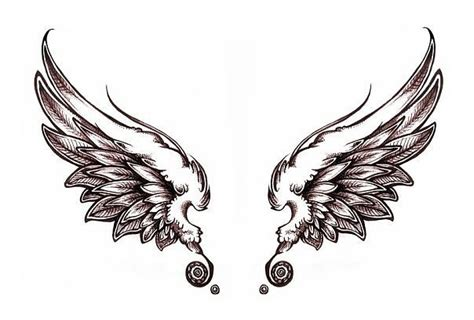simple tattoo wings simple wings tattoo designs clipart best