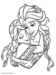 elsa and anna halloween coloring pages elsa and anna coloring page vitlt com