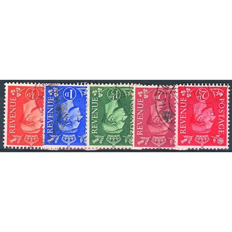 New Wmk 1950 new colours inverted wmk 5v king george vi sts