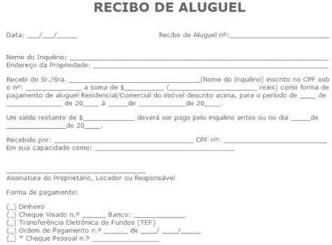Modelo De Recibos De Aluguel Comercial E Residencial | modelo de recibos de aluguel comercial e residencial