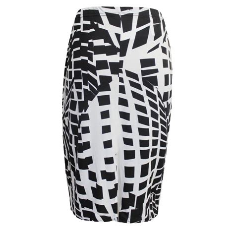 black and white pattern pencil skirt black and white pencil skirt dressed up girl