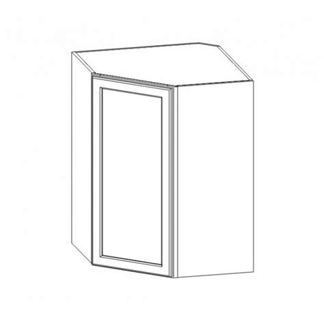 white shaker wall cabinets wdc273615 white shaker wall diagonal corner cabinet