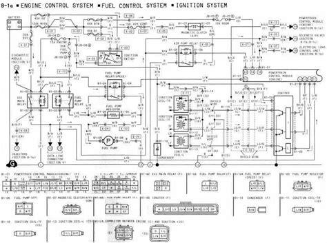 mazda rx  engine control fuel control  ignition system wiring diagram