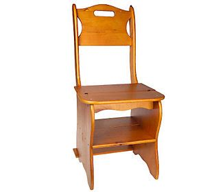 Ben Franklin Chair Step Stool by Ben Franklin Convertible Wooden Chair Step Stool Qvc