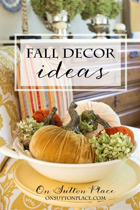 fall diy decorating ideas fall diy decorating ideas on sutton place
