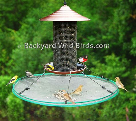 bird seed catcher large at backyard wild birds