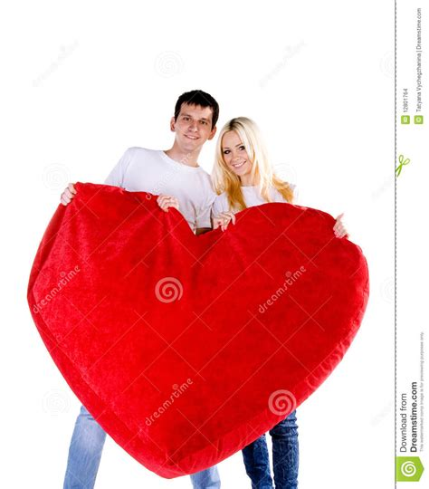golden couple have big hearts couple with a big heart stock images image 12801764