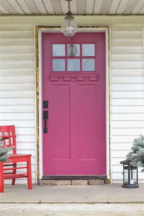 Pink Front Door Paint Benjamin S Royal Flush Will Make You Rethink Pink Home And Office Painting Services