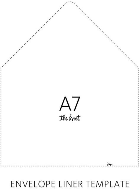 envelope liner template a7 the world s catalog of ideas