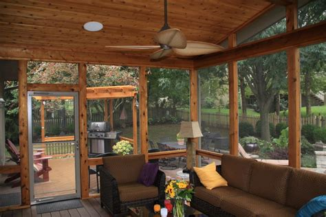 Wooden Sun Room Leawood Ks Porches Sunrooms And Decks