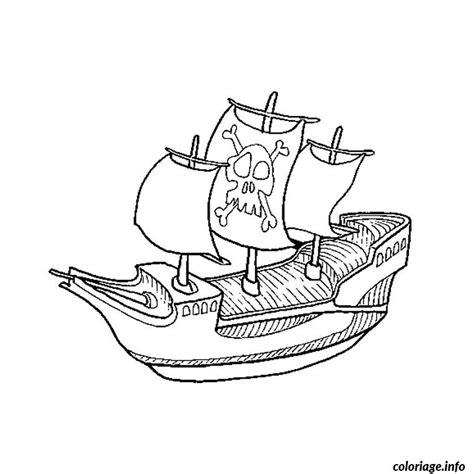 dessin bateau pirate imprimer coloriage pirate bateau jecolorie