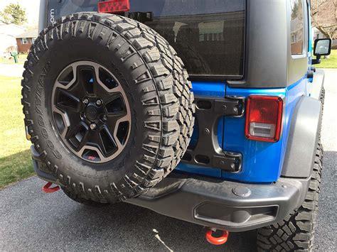 teraflex jk adjustable spare tire mount install jeepfancom