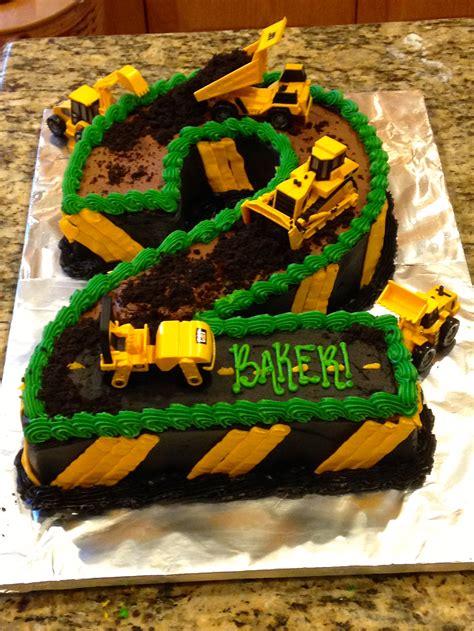 Construction 2nd Birthday Cake | construction theme 2nd birthday cake construction cake