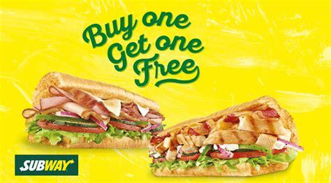 Buy Subway Gift Card Online - subway buy 1 get 1 free sub at sim lim square on 13 oct 2016