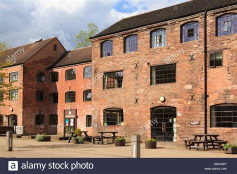 coalport youth hostel in converted red brick industrial buildings of stock photo royalty free