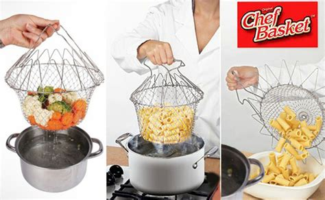 chef basket cooker strainer 12 in 1 kitchen tool ebay