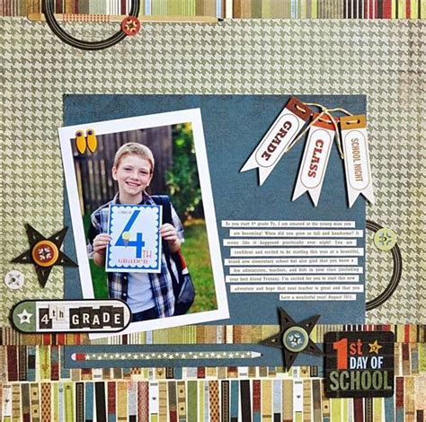 scrapbook layout first day of school first day of school layout scrapbooking pinterest