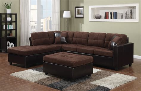 left sided sectional sofa contemporary black leather