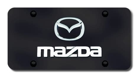 printable license plate name tags mazda logo and name license plates vanity logo tags