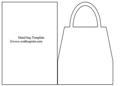 handbag card template free bag card template cup18636 1 craftsuprint