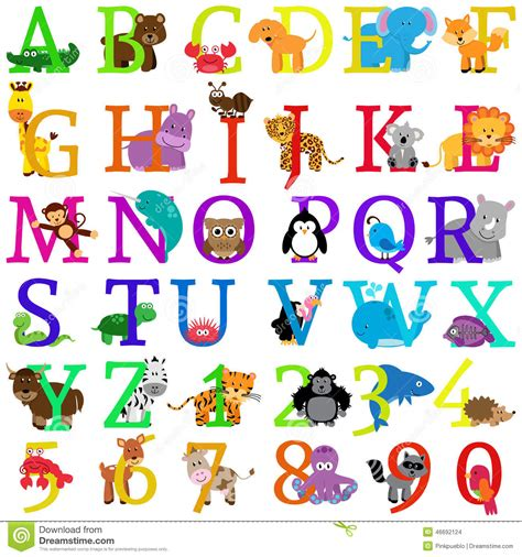 stock images vector animal themed alphabet image 46692124
