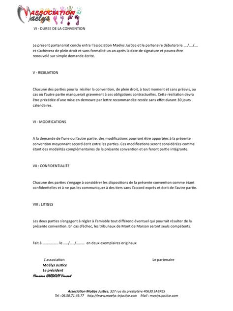 Exemple De Lettre Demande De Partenariat Gratuit Contrat Partenariat Pdf Par Windows User Fichier Pdf